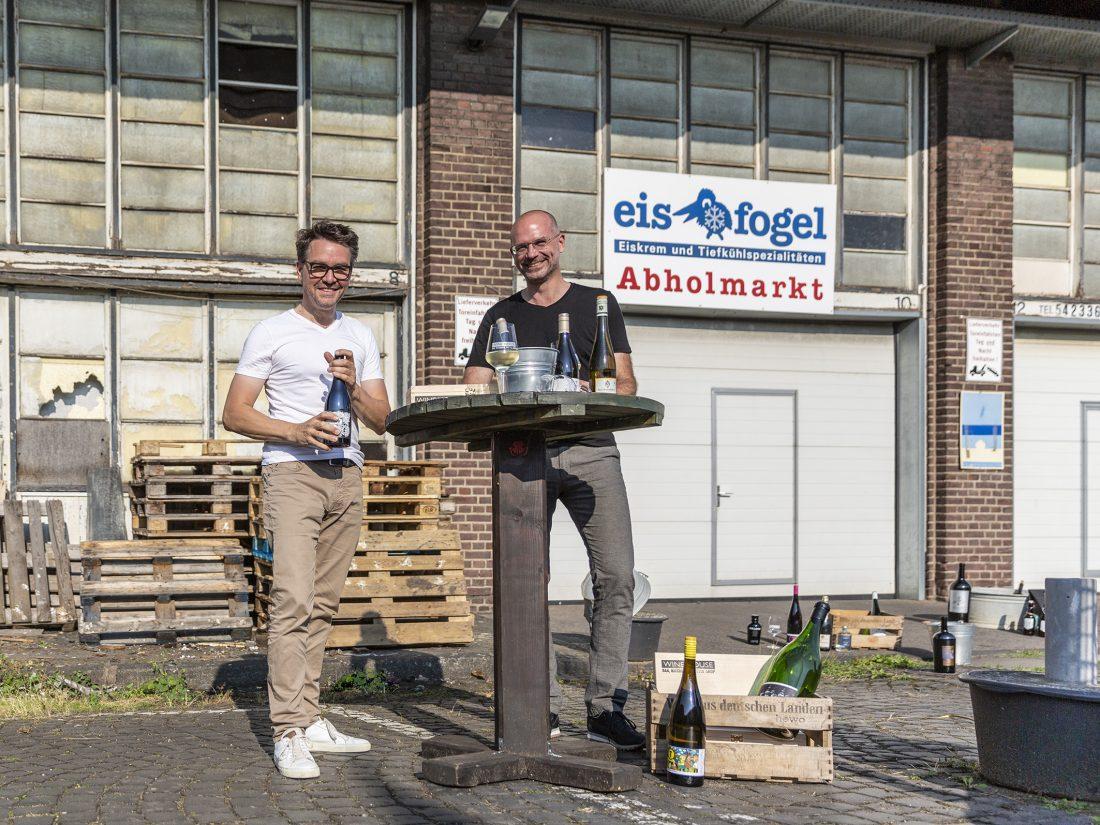 WINE HOUSE Pressefoto – Die Initiatoren Dirk Matura und Rainer Lohmann