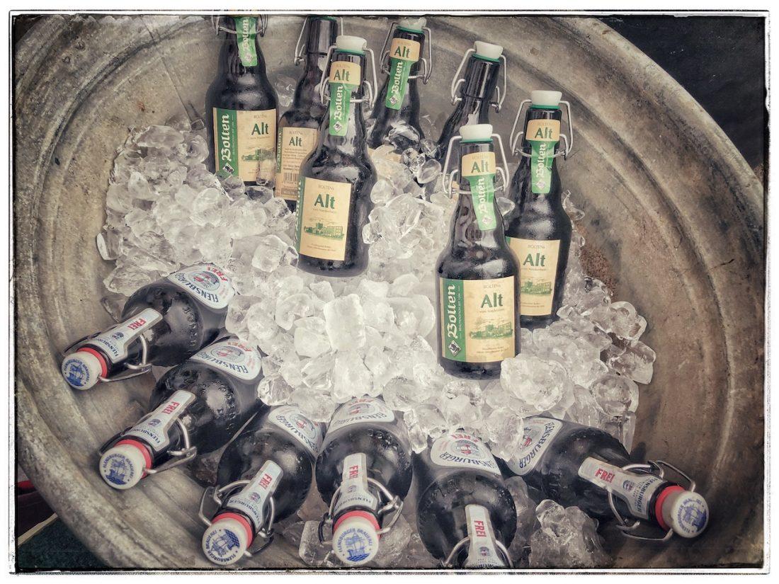 Erfrischendes Bier regionaler Brauereien