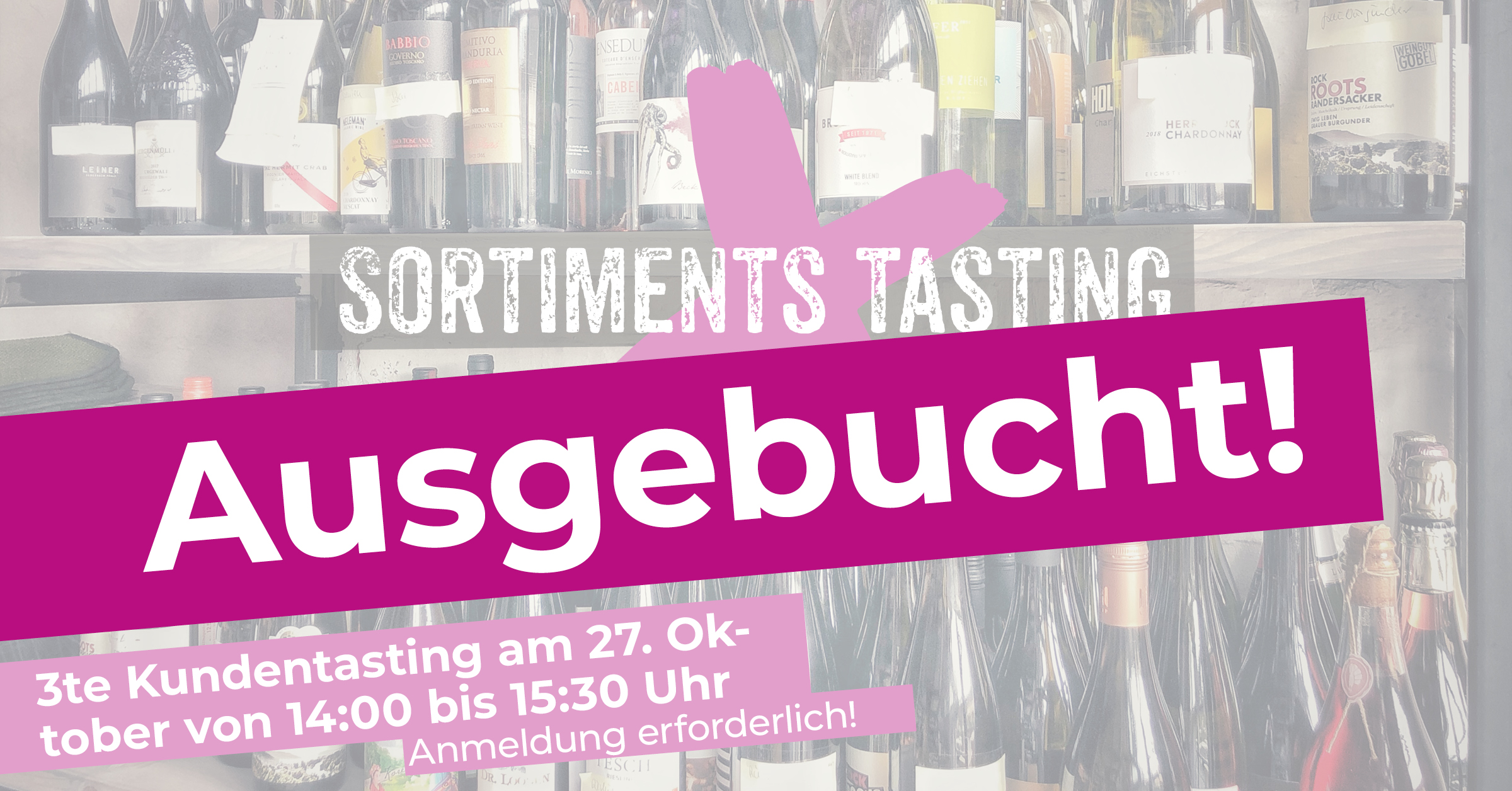 3te Weintasting mit Kunden ud Gästen im WINE HOUSE Krefeld auf dem Großmarkt