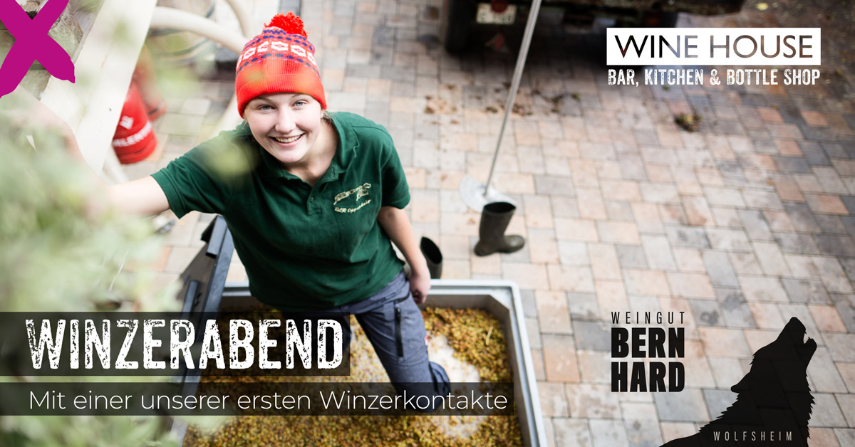 Winzerabend mit Jungwinzerin Martina Bernhard aus Rheinhessen