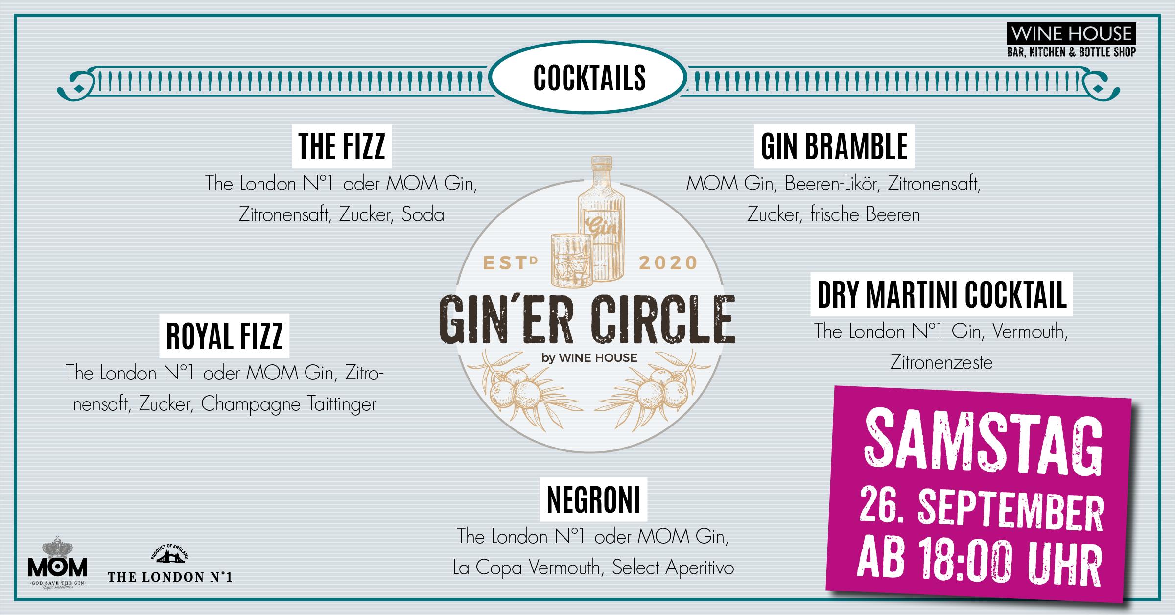 GIN´ER Circle Special in der Ginbar des WINE HOUSE auf dem Krefelder Großmarkt