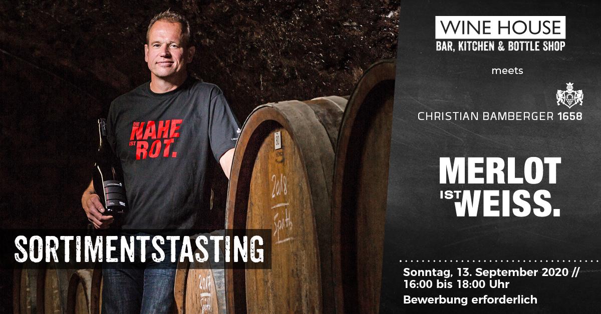 Weintasting mit Christian Bamberger von der Nahe in Krefelds größter Weinbar auf dem Krefelder Großmarkt.