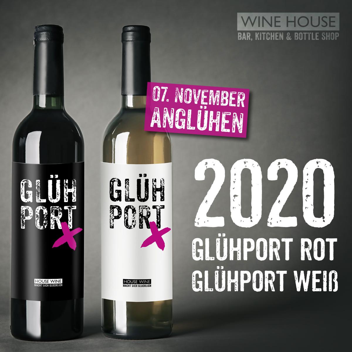 WINE HOUSE Glühport 2020 als roter und weißer Glühwein