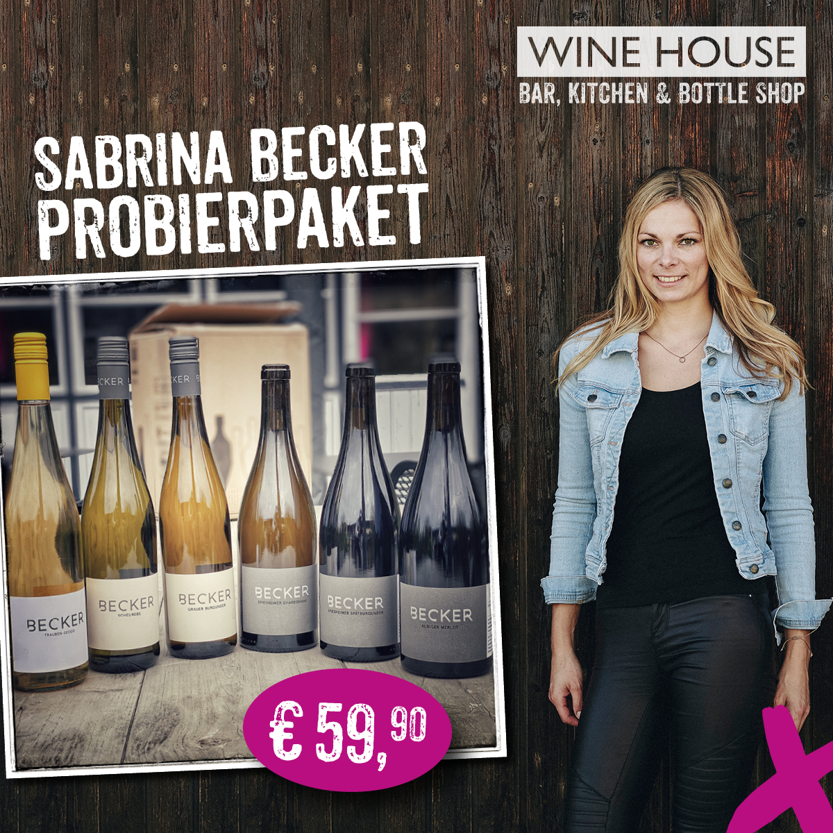 Sabrina Becker, Jungwinzerin aus Rheinhessen ist Winzerin des Monats im WINE HOUSE Krefeld