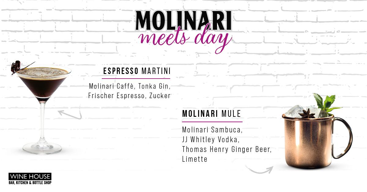 MOLINARI Sambuca Cocktails im WINE HOUSE